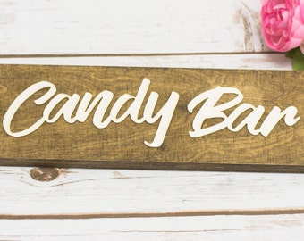 Candy Bar Sign Wooden Candy Bar Wedding Banner Rustic Wedding Decor Love is sweet dessert Table Signs Wedding Reception Banners Sweets
