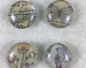 Shabby Chic Glass Magnets