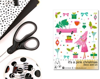 It's a pink Christmas Add-On Sticker! Perfect for the Erin Condren Life Planner!