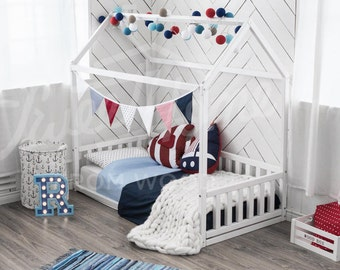montessori house bed toddler bed by von. Black Bedroom Furniture Sets. Home Design Ideas