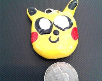 Pikachu Inspired Charms, Cookie Pikachu Charm, Handmade Charm, Pokemon Charms, Kawaii Charms, Polymer Clay Charms, Kawaii Stationery