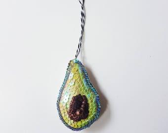 Avocado handmade hanging ornament