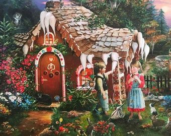 Woodland Nursery Decor Fairy Tales Wall Art Kids Room Decor Baby Forest Animals Art Print Wall Decoration/ Hansel and Gretel