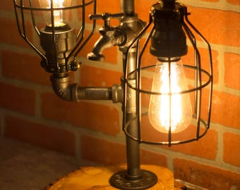 Industrial Pipe Lamp with Faucet Switch - Ben Franklin