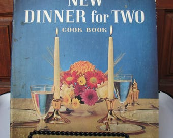 Vintage Betty Crocker's New Dinner for Two Cookbook, 1964 First Edition, Spiral Bound Hardcover