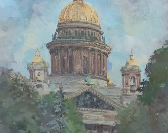 St. Isaac's Cathedral, 23.2x15.3 inches