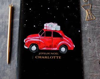 Joyeux Noel Festive Personalised Name Christmas Notebook