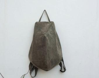 Minimalist Backpack, Leather Backpack, Minimal Rucksack, Zipper Backpack, Minimal Backpack, Book Bag, Travel Bag