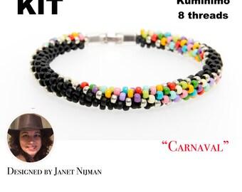 KIT Kumihimo pattern and tutorial bracelet 8 Strands bracelet