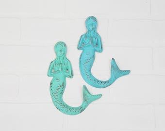 Mermaid Hook-Mermaid Wall Decor-Beach Bathroom-Nautical Decor-Wall Hook-Metal Wall Hook-Wall Hooks-Beach Decor-Towel Hooks-Metal Wall Decor
