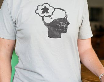 Meeple Thinker - Board Game themed t-shirt for Tabletop gaming