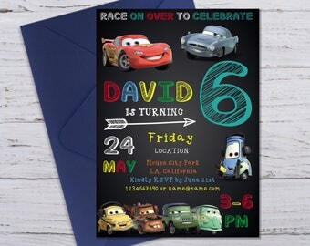 Disney Cars Birthday Invitation, Disney Cars Invitation Instant Download, Editable Birthday Invitation, Editable PDF Templates, Boy cars