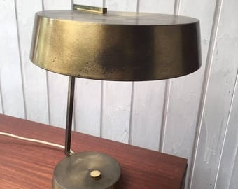 30s brass desk lamp in the Bauhaus style