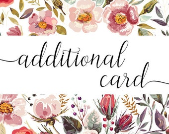 Additional card for your invitations project or a business card inserts