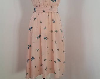 1970's Day Dress Pink Small