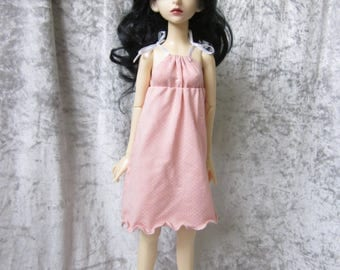 Jersey, - summer, - dress for BJD doll in MSD, 1/4 size