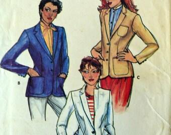 Uncut 1970s Butterick Vintage Sewing Pattern 6998, Size 10; Misses' Blazer