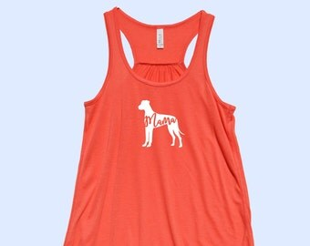 """Great Dane """"MAMA""""  (with natural ears) - Fit or Flowy Tank"""