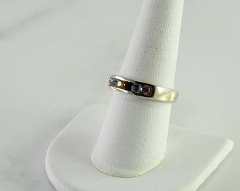 Multi Stone Stackable Ring Size 8.75 Sterling