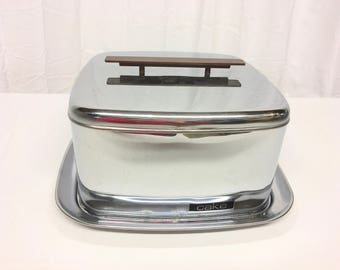 Lincoln BeautyWear Chrome Cake Taker//Square Chrome Cake Carrier//Dessert Carrier//Kitchenalia//Vintage Cake Taker