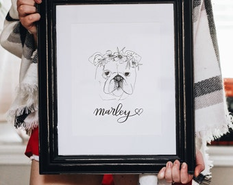 Custom Pet Portrait, Custom Dog Portrait, Gifts for her, Custom pet drawing, Pet loss gifts, Pet sympathy gifts, Fur baby, Pet Lover