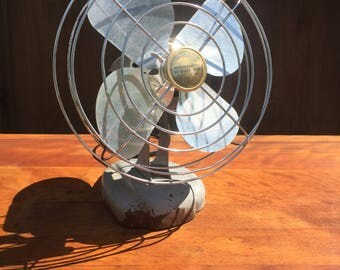 Antique Electric Manning Bowman Desk Fan