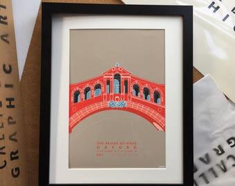 Red Bridge - FRAMED PRINT//art//framed//home//poster.