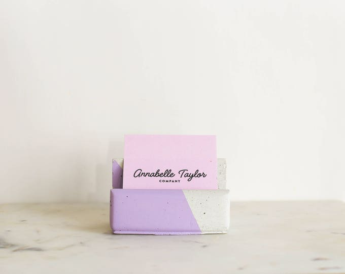 Business Card Holder: Lilac