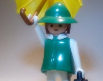 PLAYMOBIL / green waxed traveler / Vintage