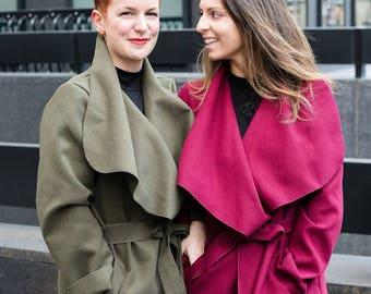 ELLA Shawl Collar Belted Coat jacket women trendy beautiful fashion stylish fashionista feminine