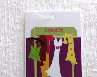 100 CLOTHING TAGS BOUTIQUE Tags Retail Tags Hang Tags Cute Apparel Tags Price Tags With 100 Plastic Loop Ties