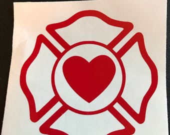 Firefighter Support Decal (multiple color options)