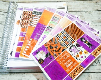 Haute Halloween - Full Weekly Kit - Halloween Stickers - Halloween Kit - Halloween Weekly Kit - Halloween - Life Planner - Theme Stickers