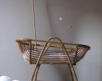 Cradle baby cradle bamboo, rattan, vintage, Wicker, rattan cradle bassinet baby bed