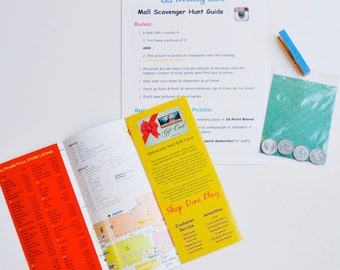 Mall Scavenger Hunt Guide for an Instagram Party! PRINTABLE, Customized Rules + Tasks + Tally Sheet