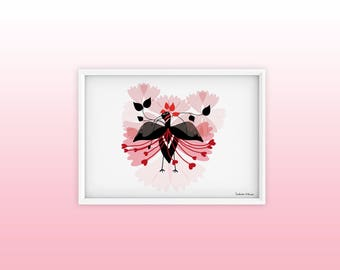 Poster Bird Blossom