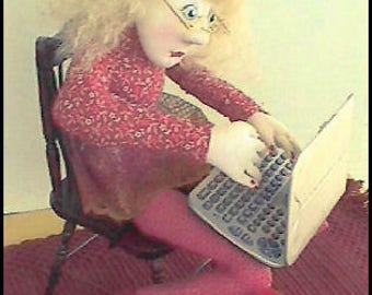 KK702E – Internet Ida - Cloth Doll Making Sewing Pattern, PDF Download