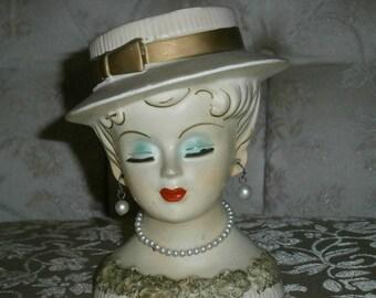 Vintage Lee Ward Head Vase