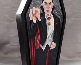 Dracula (Bela Lugosi)- original painting framed