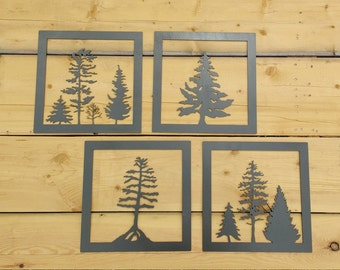 Metal Tree Art, Wall Art, Decoration, Rustic, Silhouette, Tree, Collection