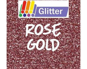 Siser Glitter Heat Transfer Vinyl - Iron On - HTV - Rose Gold