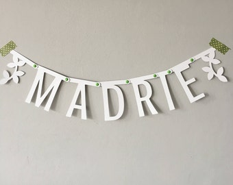 Personalized Name Garland (birth, shower, party, wedding)