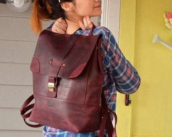 Handmade backpack, backpack leather, Large backpack, Laptop backpack, women's backpack leather, leather backpack women, leather book bag