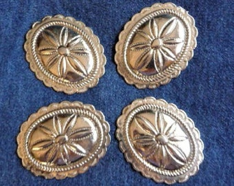 Western Concho ... Eight Conchos for Crafts , Crafting , Jewelry