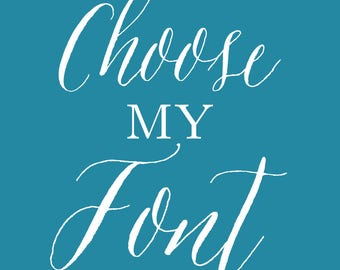 Choose My Font