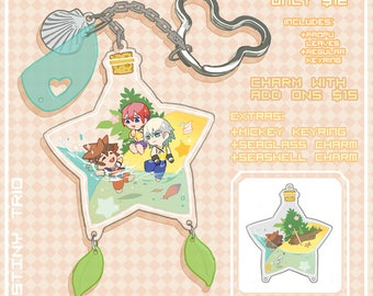 Kingdom Hearts Trio Charms (Preorder)