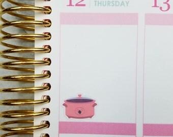 Slow Cooker Planner Stickers for Erin Condren, Happy Planner & more