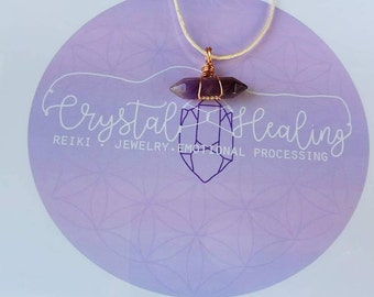 Amethyst with Hemp cord necklace