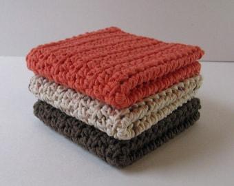 Crochet Dishcloth Set, Crochet Dishcloths, Cotton Dishcloths, Dish Cloths, Crochet Dishrags, Crochet Washcloths, Housewarming, Bridal Shower