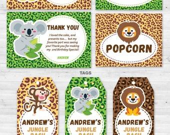 Kit Jungle Safari Party. Safari Party Kit.Safari.Printable Invitation.Jungle Kit.Editable File.Birthday Party.Themed Party Kit